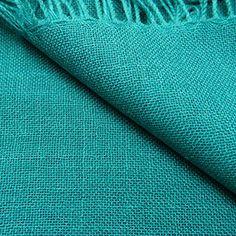 Étole alpaga et soie vert émeraude