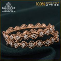 All that glitters is gold and diamond. Get OFF* on our Diamond Collection only at Kalamandir showroom. Visit our nearest showroom today! *Discount available on Making charges only. Plain Gold Bangles, Mens Gold Bracelets, Gold Bangles Design, Diamond Necklace Set, Diamond Bangle, Pearl Necklace Designs, Indian Jewelry Sets, Gold Jewelry Simple, Platinum Jewelry