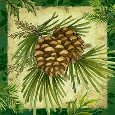 Winter Decor Pinecones -- by Elena Vladykina