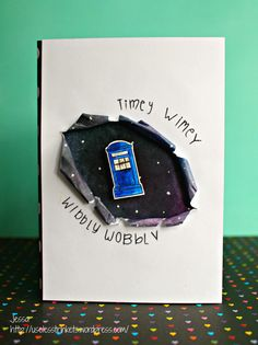 Stempelküche Challenge #48 Buchstaben und Zahlen Letters and numbers My Favorite Things London Mouse Taws Express yourself wibbly wobbly timey wimey Doctor Who birthday card handmade 1