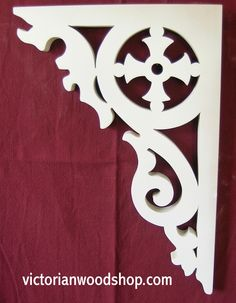 Porch Brackets and Corbels Porch Brackets, Wood Brackets, Victorian Porch, Victorian Homes, Roof Trim, Moldings And Trim, Moulding, House Trim, Butterfly Template
