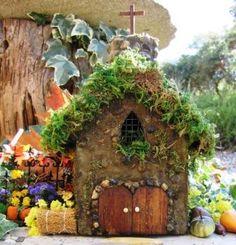 From Fairy-Gardens: Container Fairy Gardens Mini Fairy Garden, Fairy Garden Houses, Gnome Garden, Garden Art, Garden Ideas, Fairy Gardening, Fairies Garden, Fairy Dust, Fairy Land