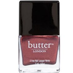 butter LONDON Nail Lacquer Shag (11ml) ($9.65) ❤ liked on Polyvore featuring beauty products, nail care, nail polish, nails, beauty, makeup, fillers, butter london nail lacquer, butter london nail polish and butter london