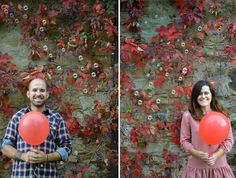~ autumn and red air baloon - fall engagement ~