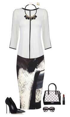 """Black & White"" by julietajj on Polyvore featuring Donna Karan, Oasis, Casadei, River Island, Kardashian Kollection, NARS Cosmetics, Chloé and Kenneth Jay Lane"
