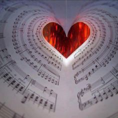 Music... Love this #red heart!