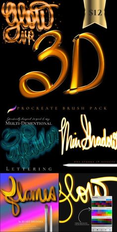 You don't have to be a lettering expert to get great results! These 3D procreate brushes will help you get multi-dimensional detail in one stroke. Create your own 3D light paintings on your iPad with these amazing special effects Procreate 5 brushes! 3d Light, One Stroke, Brush Sets, Letter Art, Light Painting, Dark Backgrounds, Blogging For Beginners, Make Money Blogging, Photo Editing