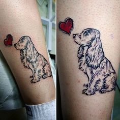 Cocker spaniel tattoo