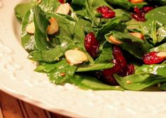 Ever Ready recipe for Spinach & Cranberry Salad with Warm Chutney Dressing posted December 2012 Cranberry Salad, Cranberry Almond Chicken Salad, Christmas Salad Recipes, Holiday Foods, Holiday Recipes, Spinach Salad Recipes, Food Trends, Family Meals, Family Recipes