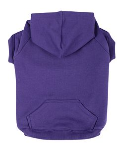 Baxter Boo Basic Dog Hoodie - Ultra Violet (size XL for Chica)