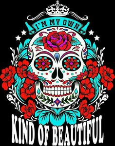 Sugar Skull sticker - My Sugar Skulls Sugar Skull Tattoos, Sugar Skull Art, Sugar Skulls, Los Muertos Tattoo, Arte Fashion, Skull Pictures, Skull Wallpaper, Day Of The Dead Skull, Candy Skulls