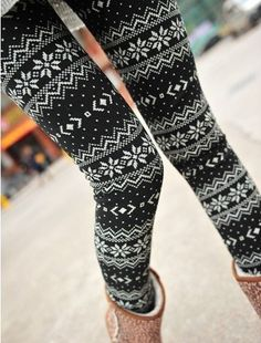 Snow Snowflake leggings