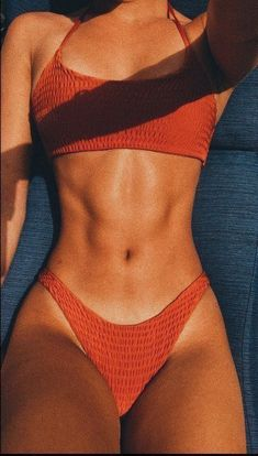 scrunch bikini bottoms orange burnt cheeky high rise bathing suits cheekies bikini crop tops is part of Body goals motivation - Brasilianischer Bikini, Sporty Bikini, Cheeky Bikini, Bikini Tops, Bikini Beach, Cute Swimsuits, Cute Bikinis, Girls In Bikinis, Summer Bikinis