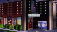 Sims 2 Journal — Welcome to your Local Theater! This is my first... Supernatural Signs, Library Signs, Delivery Room, Entrance Sign, Police Station, My Sims, Nursery Bedding, Movie Theater, Hello Everyone