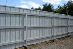 Image result for fence ideas with metal roofing