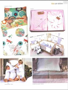 ARREDO e DESIGN - june 2015 - KID collection - bed set in soft Egyptian cotton for the crib or children bed www.marinac.it