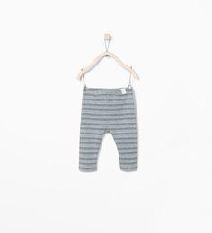 ZARA - MINI - Organic cotton striped leggings