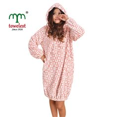 MMY Brand Coral Printing Warm Bathrobes Women's Clothing Robes & Lady Sleepwears #MMY #Robes