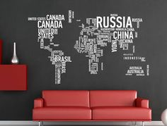 World map wood print advertise anywhere wall murals pinterest details about world trip map removable vinyl quote art for wall sticker decal mural diy decor gumiabroncs Image collections