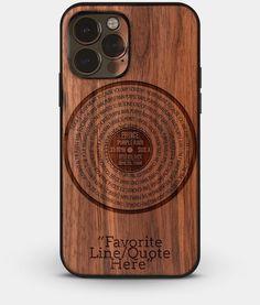 Vinyl Record Collector iPhone 13 Series Cases - Custom Wood iPhone 13 Series Covers   Lyrics EP - iPhone 13 Pro Max