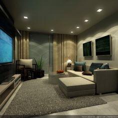 Große Wohnzimmer