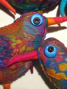 Studiofelter: New felt birds and new resolutions!