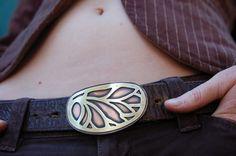 Winged Goddess Belt Buckle