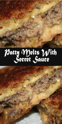 Patty Melts, Vol Au Vent, Food Dishes, Main Dishes, Side Dishes, Dinner Recipes, Ground Beef Recipes For Dinner, Ground Beef Dishes, Ground Beef Recepies