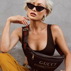click the link to shop this Gucci fanny pack Designer Fanny Pack, Micah Gianelli, Gucci Marmont Belt, Look 2018, Dior, Vintage Gucci, Prada, Photoshoot, How To Wear