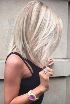 Image for Frisuren Halblang 2018 Blond