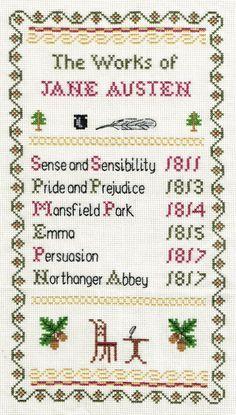 The Works of Jane Austen Sampler Counted di PhoenixNeedlecraft
