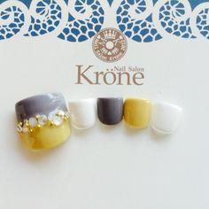 ネイル 画像 Nail Salon Krone【ネイルサロン クローネ】 幕張 1045907 スモーキー バイカラー オフィス フット