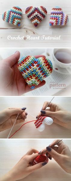 We Have Numerous Heart Tutorials On Our - maallure Holiday Crochet, Crochet Gifts, Cute Crochet, Crochet Motif, Knit Or Crochet, Crochet Stitches, Crochet Hearts, Simple Crochet, Crotchet