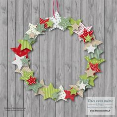 Couronne & guirlande papier Plus - Christmas Pins 2019 Diy Christmas Garland, Christmas Crafts For Kids, Xmas Crafts, Simple Christmas, Kids Christmas, Christmas Decorations, Kindergarten Christmas, Advent Wreaths, Christmas Tables