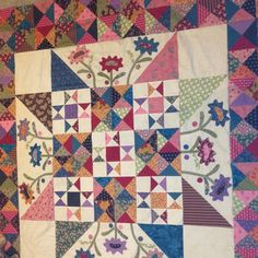 Newest quilt top.   late bloomers