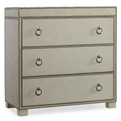 Hamilton Home Living Room Accents 3 Drawer Chest with Nailhead Trim - Rotmans - Chest of Drawers