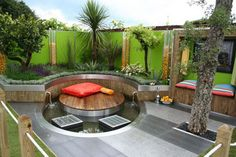 35 Inspiring and Eye Catching Backyard Pool Landscaping Ideas : Modern Garden Design Patio Backyard Pool Landscaping Ideas
