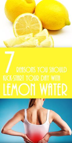 7 reasons to kick-start your day with lemon water. #detox #weightloss #health