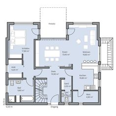 Haus Rothe – Erdgeschoss House Layout Plans, Dream House Plans, House Layouts, House Floor Plans, Welcome To My House, Small Laundry Rooms, Building A House, Architecture Design, Home And Family