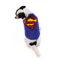 Superman perro disfraces DC cómics superhéroes hechos a por myknitt