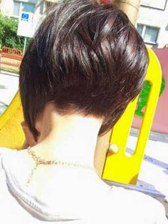 Back View Of Short Hair Cute 2014