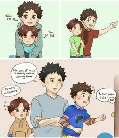 (IwaOi) http://hann-desu.tumblr.com/post/149262032416/iwaoi-lovechildren-doodles-the-eldest-child