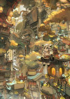 Chinese Cartoon, Identity Art, Environment Concept Art, Slayer Anime, Environmental Art, Anime Scenery, Drawing People, Cool Artwork, Asian Art