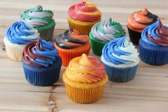 Tell everyone  where you're going for college with these school-spirit cupcakes.