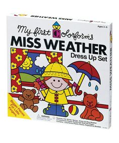 This Miss Weather Dress-Up Set by Colorforms is perfect! #zulilyfinds