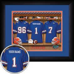 Use the code PINFIVE to receive an additional 5% discount off the price of the Florida Gators Personalized Locker Room Print at SportsFansPlus.com