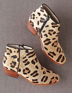Boden Leopard Print Ankle Boot
