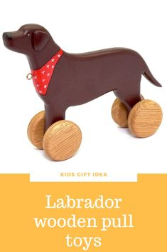 Organic heirloom wooden toys for baby activity. Labrador retriever lover pull toy. Dog with wheels. Montessori kids birthday gift ideas. Waldorf wood animals for toddler. Available only for 48$ free shipping worldwide #woodentoys #toddlertoys #kidstoys #labrador Wooden Toys For Toddlers, Wooden Baby Toys, Toddler Toys, Kids Toys, Dog Lover Gifts, Dog Lovers, Wood Animal, Kids Birthday Gifts, Pull Toy