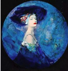 by artist Richard Burlet was born in France in He is influenced by Austrian symbolist painter Gustav Klimt and Art Nouveau. Art And Illustration, Richard Burlet, Blue Art, French Artists, Portrait Art, Female Portrait, Figure Painting, Figurative Art, Female Art