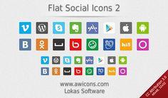 Flat Social Media Icons 2 by Insofta.deviantart.com on @DeviantArt